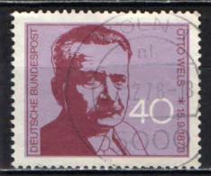 GERMANIA - 1973 - CENTENARIO DELLA NASCITA DI OTTO WELS (1872-1939) - USATO - [7] Repubblica Federale