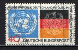 GERMANIA - 1973 - AMMISSIONE DELAL REPUBBLICA FEDERALE TEDESCA ALL'O.N.U. - USATO - [7] Repubblica Federale