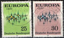 GERMANIA - 1972 - SERIE EUROPA UNITA - USATI - [7] Repubblica Federale