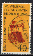 GERMANIA - 1972 - 21° CONCORSO MONDIALE PER PARAPLEGICI A HEIDELBERG - USATO - [7] Repubblica Federale
