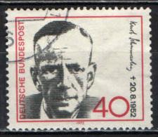 GERMANIA - 1972 - 20° ANNIVERSARIO DELLA MORTE DI KURT SCHUMACHER (1895-1952) - POLITICO - USATO - [7] Repubblica Federale