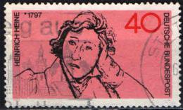 GERMANIA - 1972 - 175° ANNIVERSARIO DELLA NASCITA DI HEINRICH HEINE - POETA - USATO - [7] Repubblica Federale