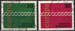 GERMANIA - 1971 - SERIE EUROPA UNITA - USATI - [7] Repubblica Federale