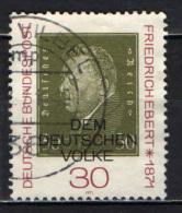 GERMANIA - 1971 - CENTENARIO DELLA NASCITA DEL PRESIDENTE FRIEDRICH EBERT (1871-1925) - USATO - [7] Repubblica Federale