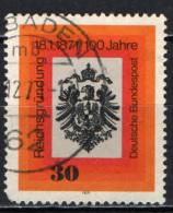 GERMANIA - 1971 - CENTENARIO DELLA FONDAZIONE DELL'IMPERO TEDESCO - USATO - [7] Repubblica Federale