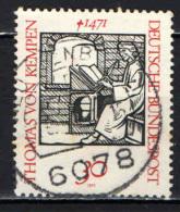 GERMANIA - 1971 - 5° CENTENARIO DELLA MORTE DI THOMAS VON KEMPEN (1379-1471) SCRITTORE ASCETICO - USATO - [7] Repubblica Federale
