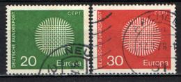 GERMANIA - 1970 - SERIE EUROPA UNITA - USATI - [7] Repubblica Federale