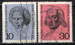 GERMANIA - 1970 - LUDWIG VAN BEETHOVEN E F. HOLDERLIN - USATI - [7] Repubblica Federale