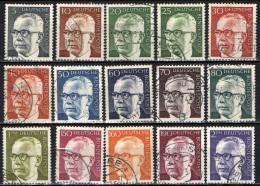 GERMANIA - 1970 - EFFIGIE DEL PRESIDENTE HEINEMANN - USATI - [7] Repubblica Federale
