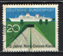 GERMANIA - 1970 - 75° ANNIVERSARIO DEL CANALE DEL MAR BALTICO - USATO - [7] Repubblica Federale