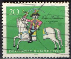 GERMANIA - 1970 - 250° ANNIVERSARIO DELLA NASCITA DEL BARONE DI MUNCHHAUSEN - USATO - [7] Repubblica Federale