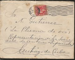 J) 1911 UNITED STATES, WASHINGTON, GOLD PLUM, WITH SLOGAN CANCELLATION, AIRMAIL, CIRCULATED COVER, FROM PUERTO RICO TO S - United States