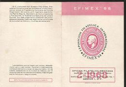 J) 1968 MEXICO, INTERNATIONAL PHILATELIC EXHIBITION, EFIMEX 68, FDB - Mexico