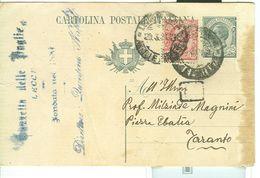 C.P. -FIRMA AUTOGRAFA DI QUINTINO NAPOLI,GAZZETTA DELLE PUGLIE,1921 - Per MILZIADE MAGNINI,TARANTO, - Autografi