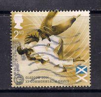 GB 2014 QE2 2nd Class Commonwealth Games 'Glasgow'  Used Stamp  SG 3619  ( M609 ) - 1952-.... (Elizabeth II)