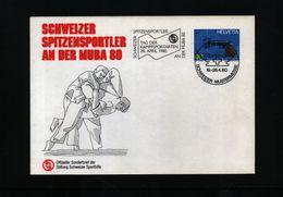 Switzerland 1980 Wrestling Day Interesting Cover - Ringen