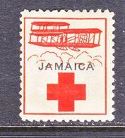 JAMAICA  AAMC  1c   *   AEROPHILATELIC  RED  CROSS - Jamaica (...-1961)
