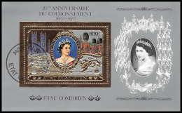 548/ Comores état Comorien (Comoros)  OR (gold Stamps) Queen Elizabeth 2 - Königshäuser, Adel
