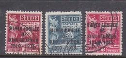 Samoa SG 177-179 1935 Silver Jubilee ,used - Samoa