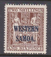Samoa SG 189 1935-42 Arms Of NZ  Definitives Two Shillings And 6 Pence Brown,Mint Hinged - Samoa
