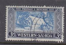 Samoa SG 222 1952 Definitives 3 Pence Ultramarine And Indigo,used - Samoa