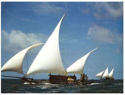 (515) Maldives Islands (with Stamp) - Sailing Ship -  Male Atoll - Maldiven
