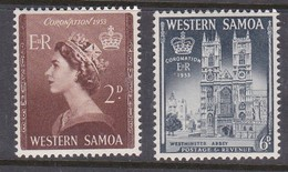 Samoa SG 229-230 1953 Coronation,mint Hinged - Samoa