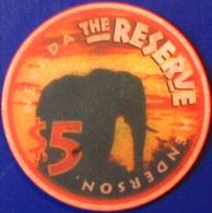 $5 Casino Chip. The Reserve, Henderson, NV. 1998. M29. - Casino