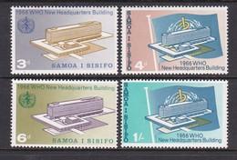 Samoa SG 269-272 1966 Inauguration Of W.H.O.headquarters, Mint Never Hinged - Samoa