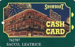 Showboat Casino - Atlantic City NJ / Slot Card / Black Text On Reverse, Last Line Starts 'program' - Casino Cards