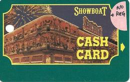 Showboat Casino - Atlantic City NJ / BLANK Slot Card / Green Text On Reverse / No Reg Mark In Logo - Casino Cards