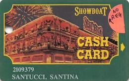 Showboat Casino - Atlantic City NJ / Slot Card / Green Text On Reverse / No Reg Mark In Logo - Casino Cards