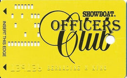Showboat Casino - Las Vegas, NV - Officers Club Slot Card - Casino Cards