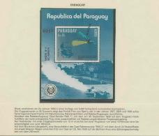1182/ Espace (space)  Neuf ** MNH Paraguay 1983  N° 7649 Opel Avion Et Fusée Overprint Surchargé Muestra - Space