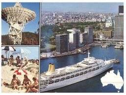 (PF 199) Australia - Cruise Ship In Sydney (Printed In The Netherlands For The Australian Government) - Dampfer