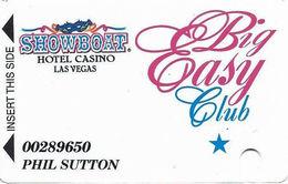 Showboat Casino - Las Vegas, NV - Big Easy Club Slot Card - No Comma In PPC - Casino Cards