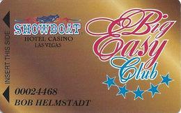 Showboat Casino - Las Vegas, NV - Big Easy Club Slot Card - Comma In PPC - Casino Cards