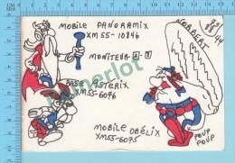 QSL - La Malbbaie Quebec Canada  - Mobile Panoramix & Obélix Base Astérix -  CPM 2 Scans - CB