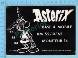 QSL - Montréal Quebec Canada  - Base & Mobile ASTERIX  -  CPM 2 Scans - CB