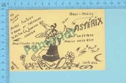 QSL  - St-theodore D'Acton Quebec Canada -  Base & Mobile Asterix -  2 Scans - CB