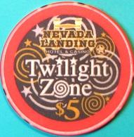 $5 Casino Chip. Nevada Landing, Jean, NV. Twilight Zone, Only 1500 Made. M30. - Casino