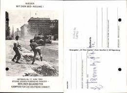558702,Politik SED Regime DDR Panzer Ostberlin Berlin 1953 - Geschichte