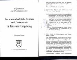 561373,Studentika Studentica Begleitbuch 6. Seiten Burschenschaft Stätten Jena - Schulen