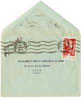 MAROC TARIF IMPRIMES AVION ENVELOPPE OUVERTE 1948 3F SEUL SUR LETTRE CASABLANCA POSTES => LYON - Marokko (1891-1956)