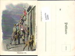 560082,Lithographie Studentica Studentika Nächtlicher Ulk Studentenpostkarte 8 Pub Kö - Schulen