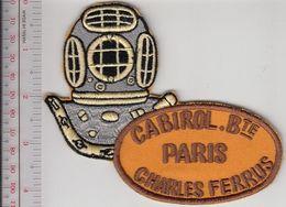 SCUBA Hard Hat Diving France Specialités Mécaniques Réunis Cabirol Charles Ferrus 12 Bolts Diving Helmet Paris Gold - Diving