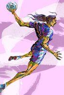 [ T24-086 ]  Handball Handbal , China Pre-stamped Card, Postal Stationery - Handball