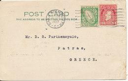 Ireland Postcard Sent To Greece 16-12-1927 - 1922-37 Irish Free State