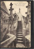 50107 .  MONT SAINT MICHEL . ABBAYE . ESCALIER DE DENTELLE . VUE DE FACE   . (recto/verso)    J. P. 76 - Le Mont Saint Michel