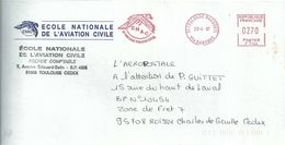 Ema Neopost F - Aigle - Rapace - ENAC - Ecole Nationale De L'Aviation Civile - Enveloppe Entière - Eagles & Birds Of Prey